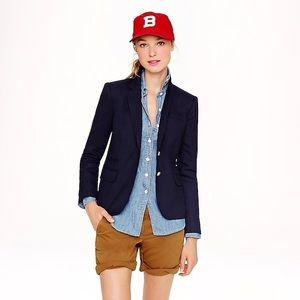 J. Crew Schoolboy Wool Blazer Jacket Suit Navy